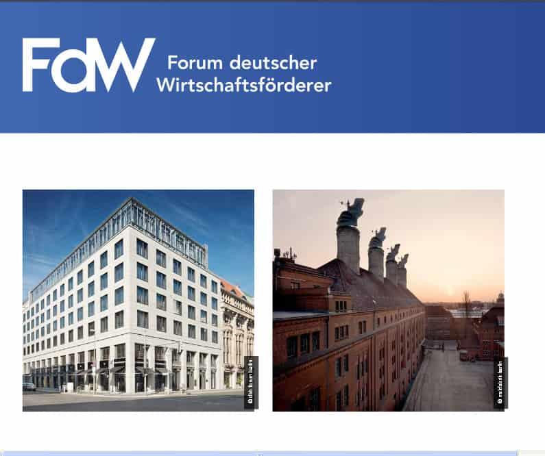 Ich berichte vom Forum Deutscher Wirtschaftsförderer am 14. und 15. November in Berlin.