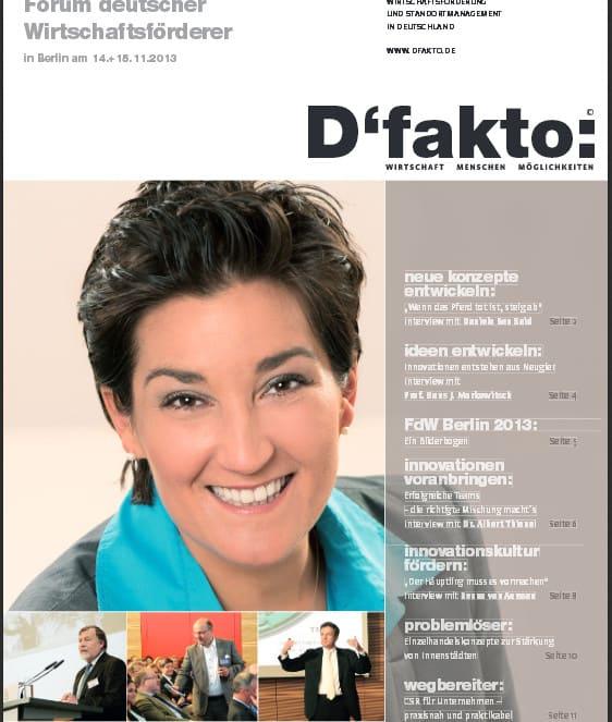 Erschienen: D'Fakto-Sonderveröffentlichung zum FdW-Kongress