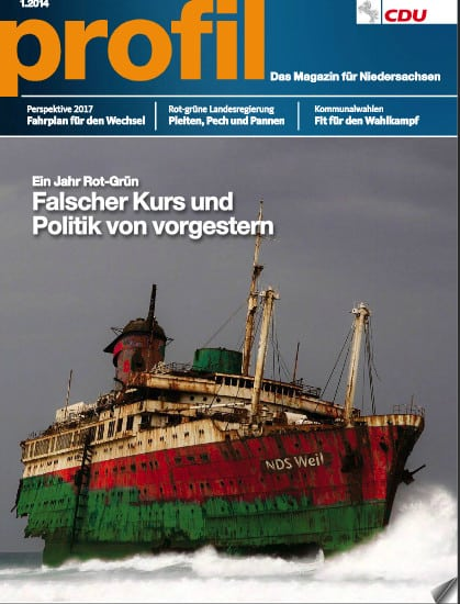 Profil - Das Mitgliedermagazin der CDU Niedersachsens. Ausgabe 1 - 2014