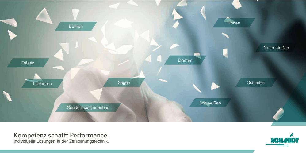 Die neue Imagebroschüre der Schmidt Zerspanungstechnik GmbH