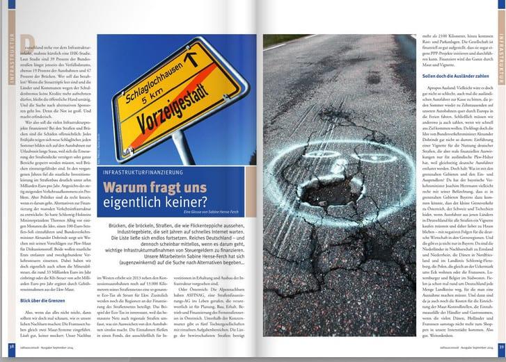 Glosse zur Infrastrukturfinanzierung - erschienen im Rathausconsult 3 - 2014.