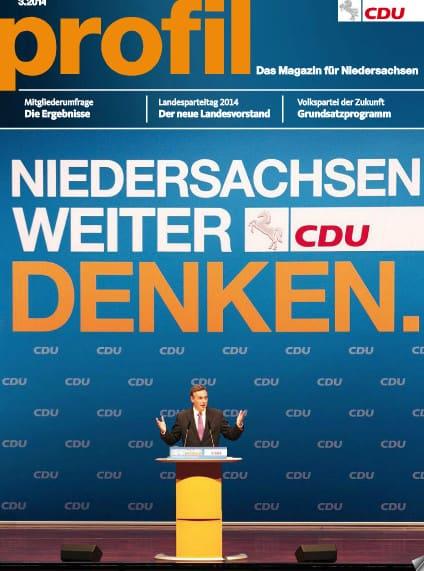 CDU Niedersachsen: Meine Texte in PROFIL 3 – 2014
