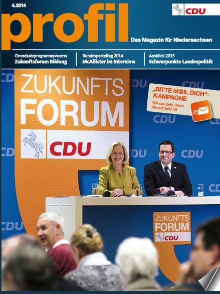 CDU Niedersachsen: Meine Texte in PROFIL 4-2014
