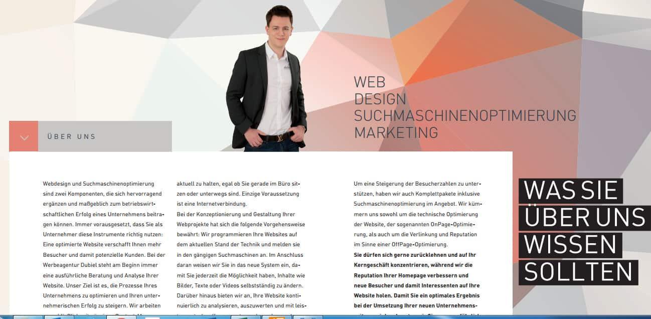 Neue Imagebroschüre der Dubiel Werbeagentur