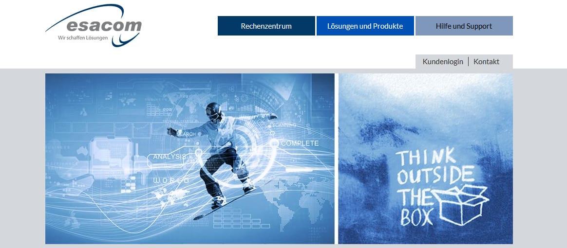 Gemeinsam mit der Werbeagentur Wicker: Neuer Webauftritt für IT-Dienstleister esacom