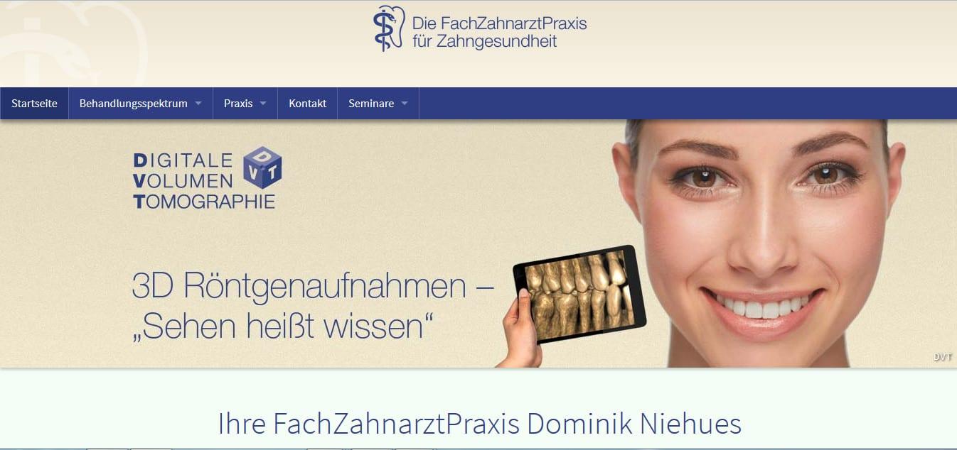 Informativer Webauftritt, frische Texte: Seit heute sind die Webseiten der Geseker Fachzahnarztpraxis online.