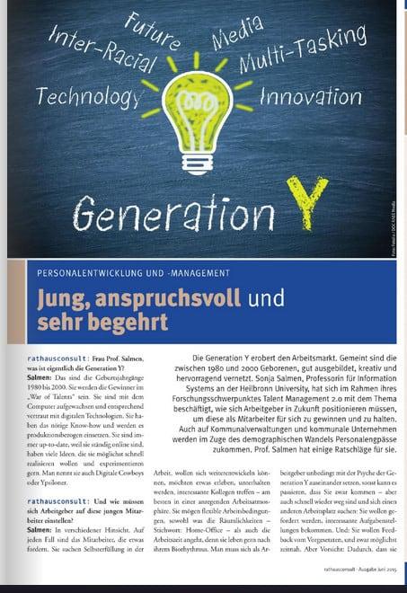 Beitrag für Rathausconsult – Jung und anspruchsvoll: Die Generation Y