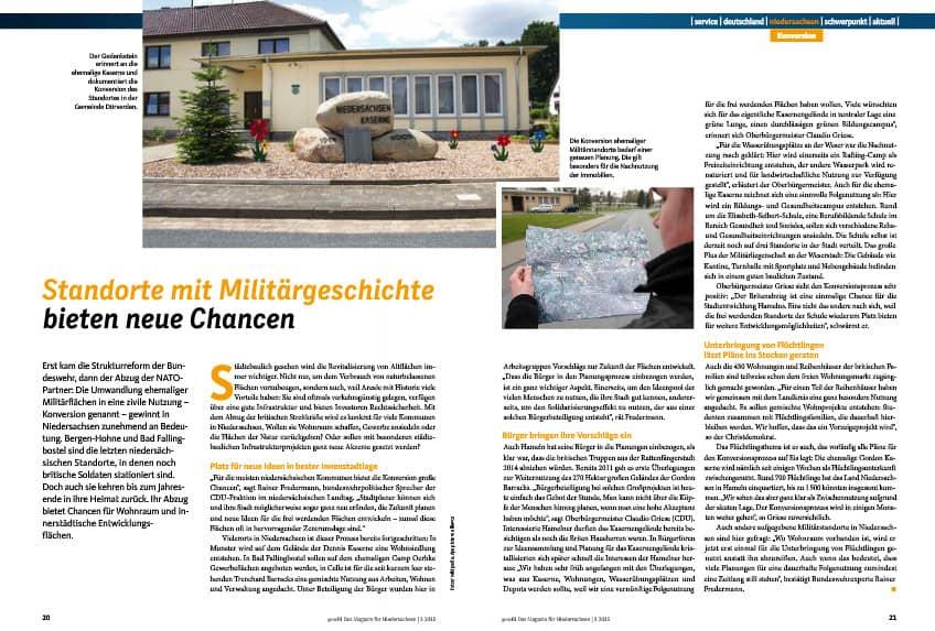 Standorte mit Militärgeschichte: Wie die Konversion in Niedersachsen voran schreitet.