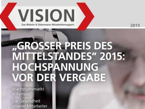 Kooperation mit WCG: Mitarbeitermagazin Bilstein & Siekermann