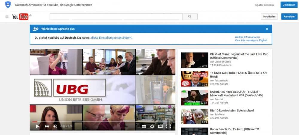 Union Betriebs GmbH: Imagefilm jetzt auch auf YouTube