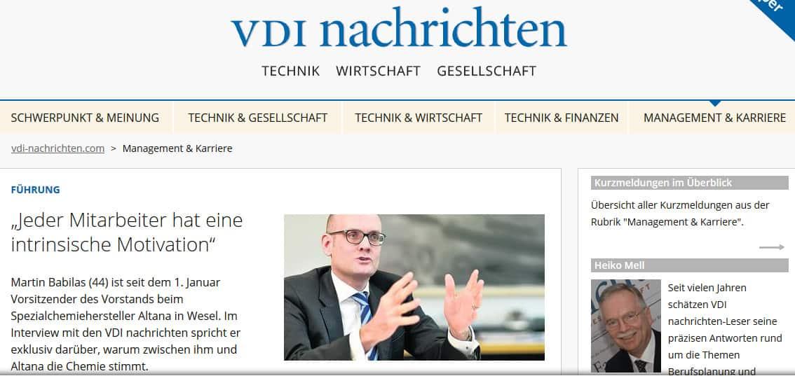 VDI-Nachrichten: Attraktive Arbeit für die Alten