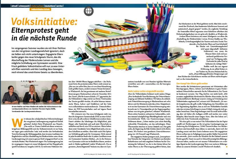 Niedersachsen hat eine neue Volksinititiative: Eltern und Lehrer sammeln Unterschriften gegen das Schulgesetz.