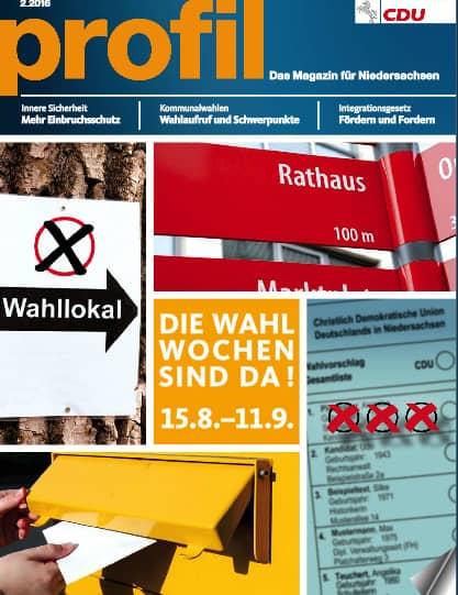 Magazin der CDU Niedersachsens: Auf Wachstumskurs