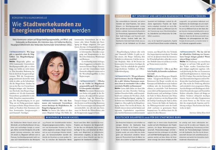 Interview Katharina Reiche für Rathausconsult 4-2016