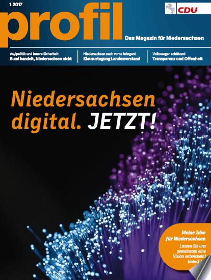 CDU Niedersachsen: Meine Texte in der aktuellen Ausgabe von PROFIL