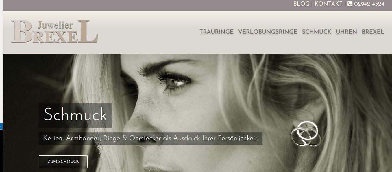 Kooperation mit etcetc Grafik & Webdesign: Texte für die neue Webseite von Juwelier Brexel