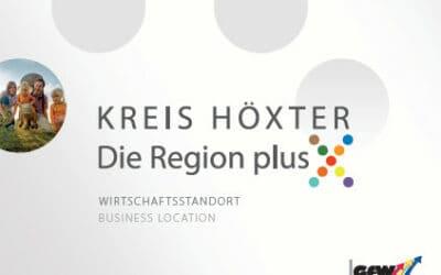 Für die GfW Kreis Höxter: Wirtschaftsbroschüre Höxter – Die Region plus X
