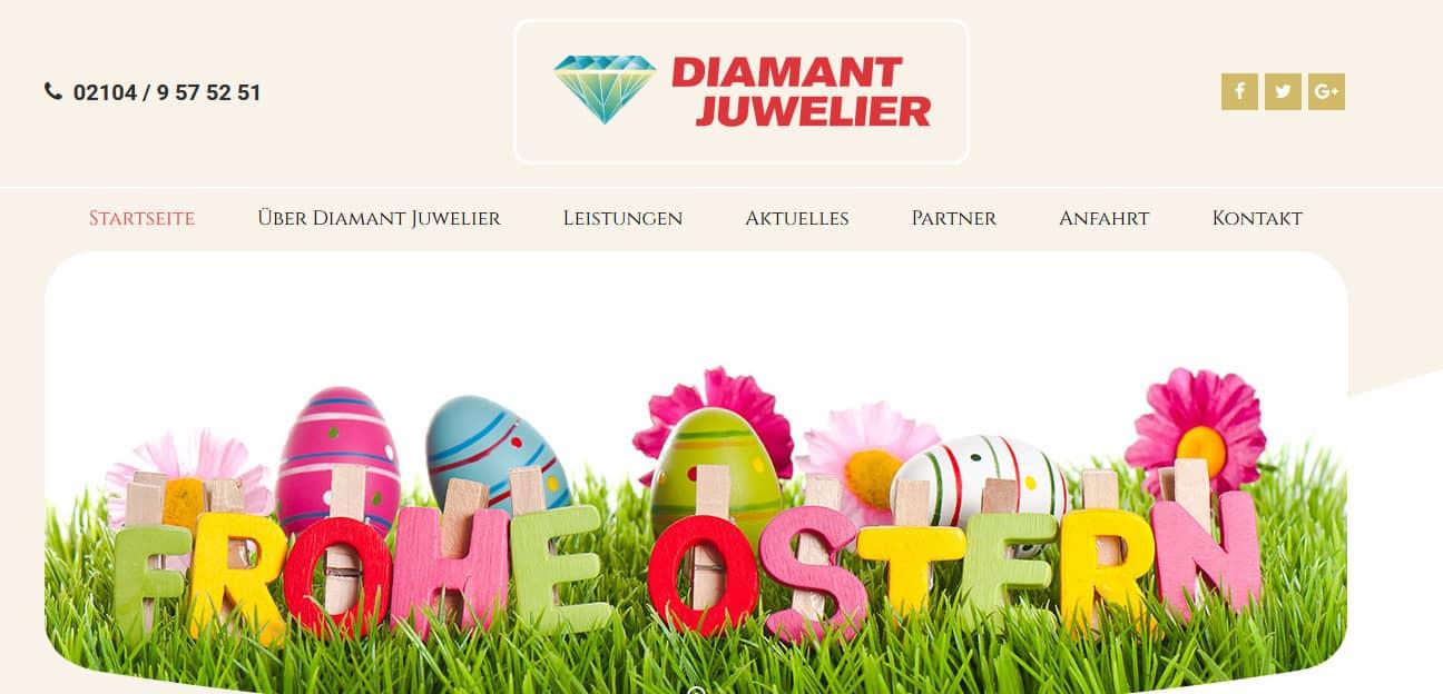 Neue Zusammenarbeit mit 5150media® aus Düsseldorf: Webauftritt für Juwelier