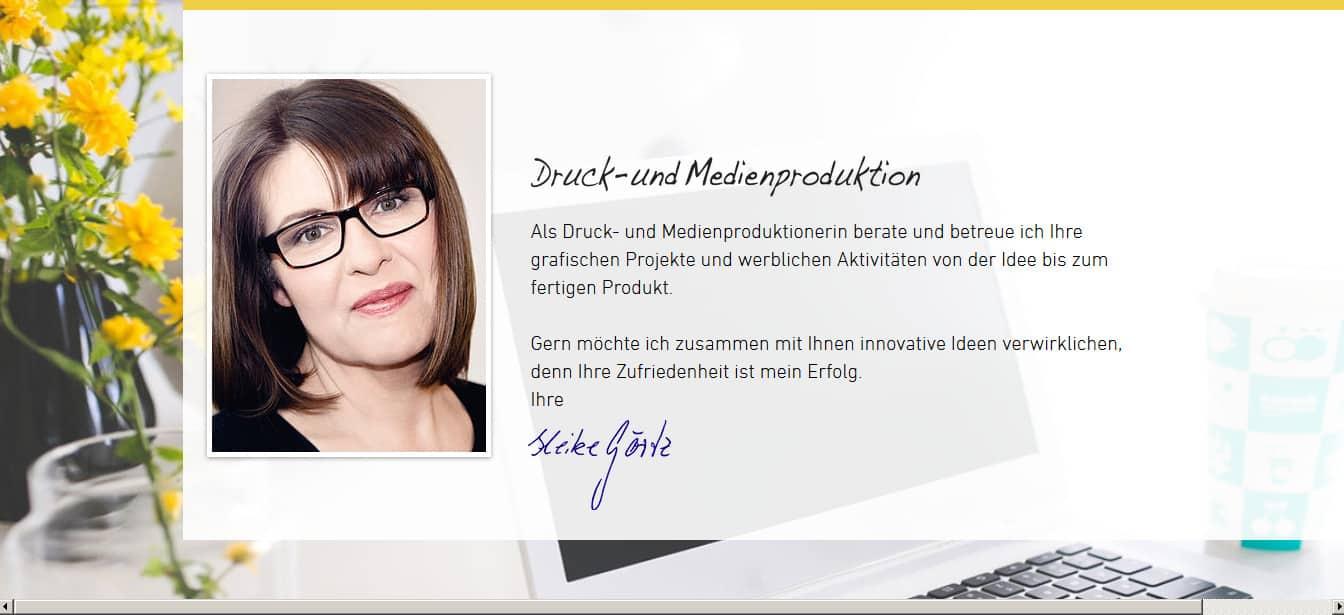 Medienproduktionerin Heike Görtz