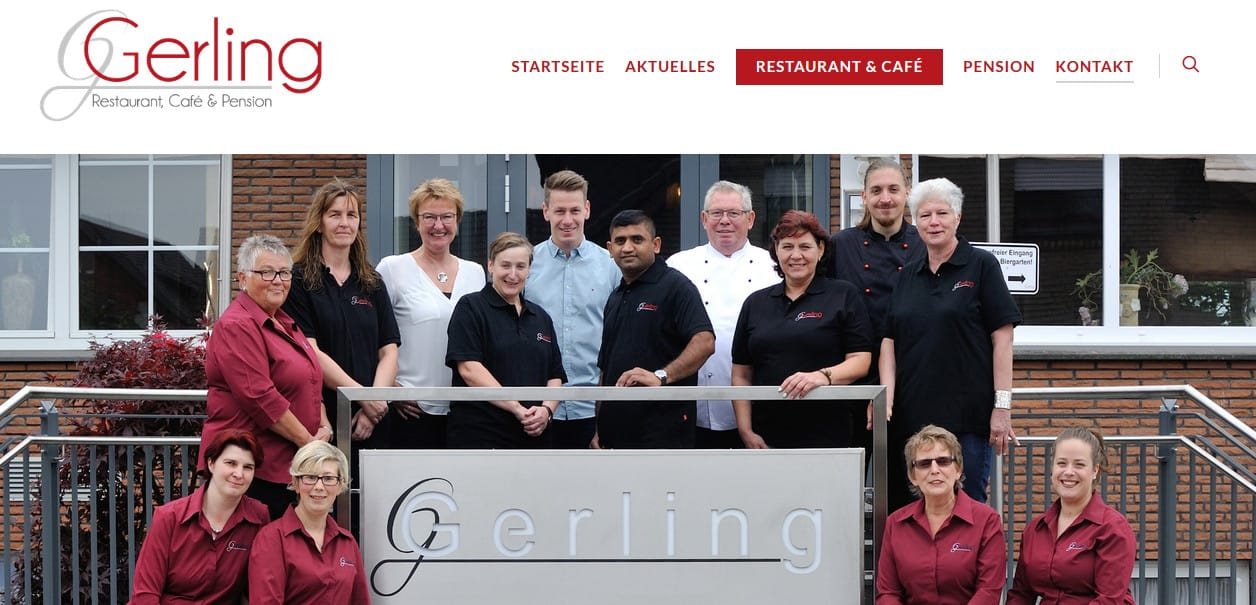 Neue Webseite Café & Restaurant Gerling in Bad Westernkotten