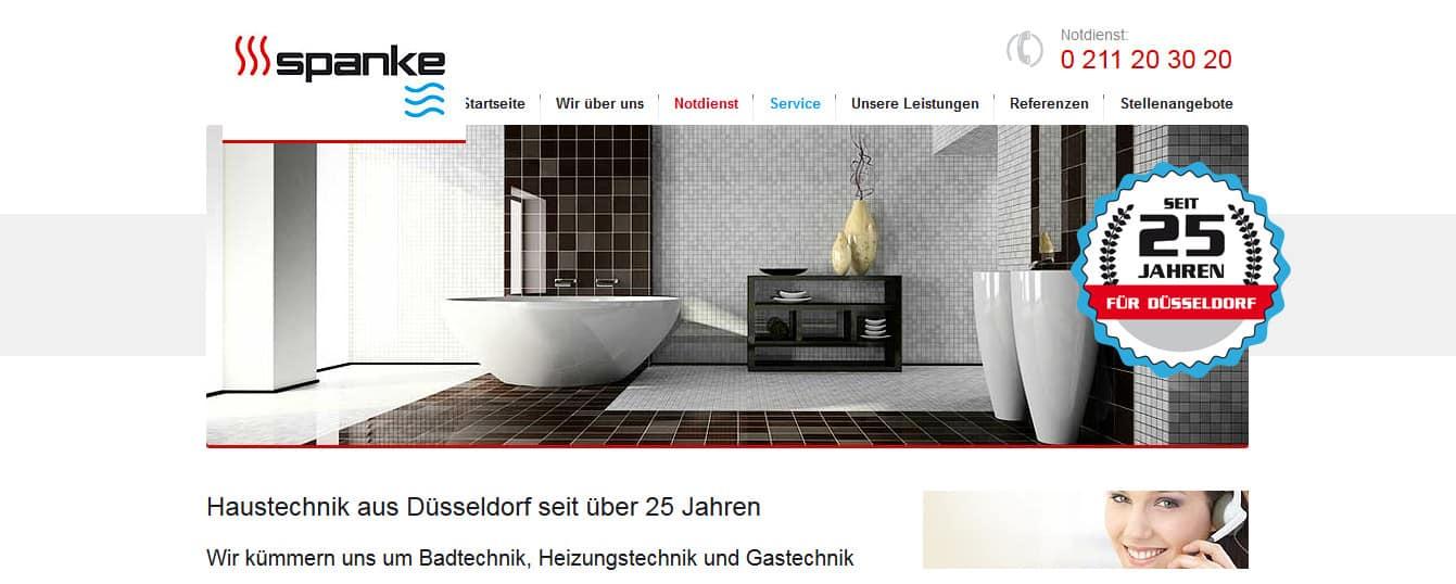 Neue suchmaschinenoptimierte Webtexte für Spanke-Haustechnik.de