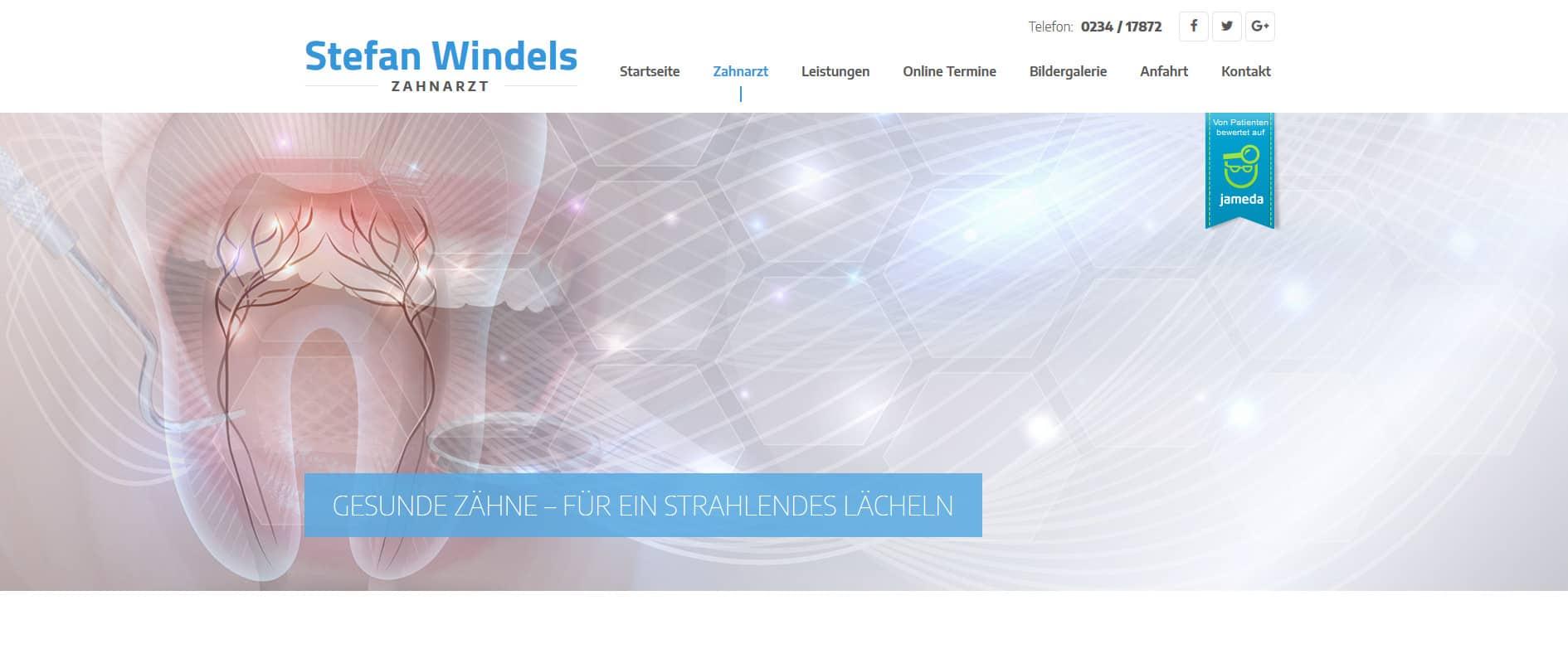 SEO-Webtexte für Zahnarzt Windels aus Bochum.