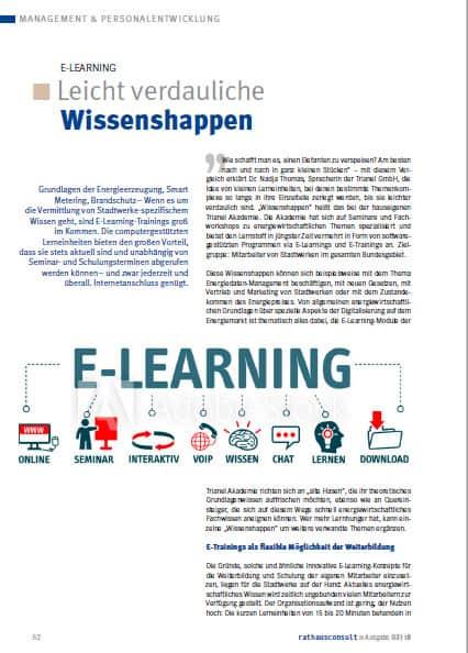 Leicht verdauliche Wissenshappen – Beitrag für Rathausconsult zum Thema E-Learning
