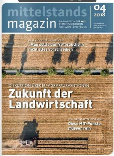 Mittelstandsmagazin Ausgabe September 2018