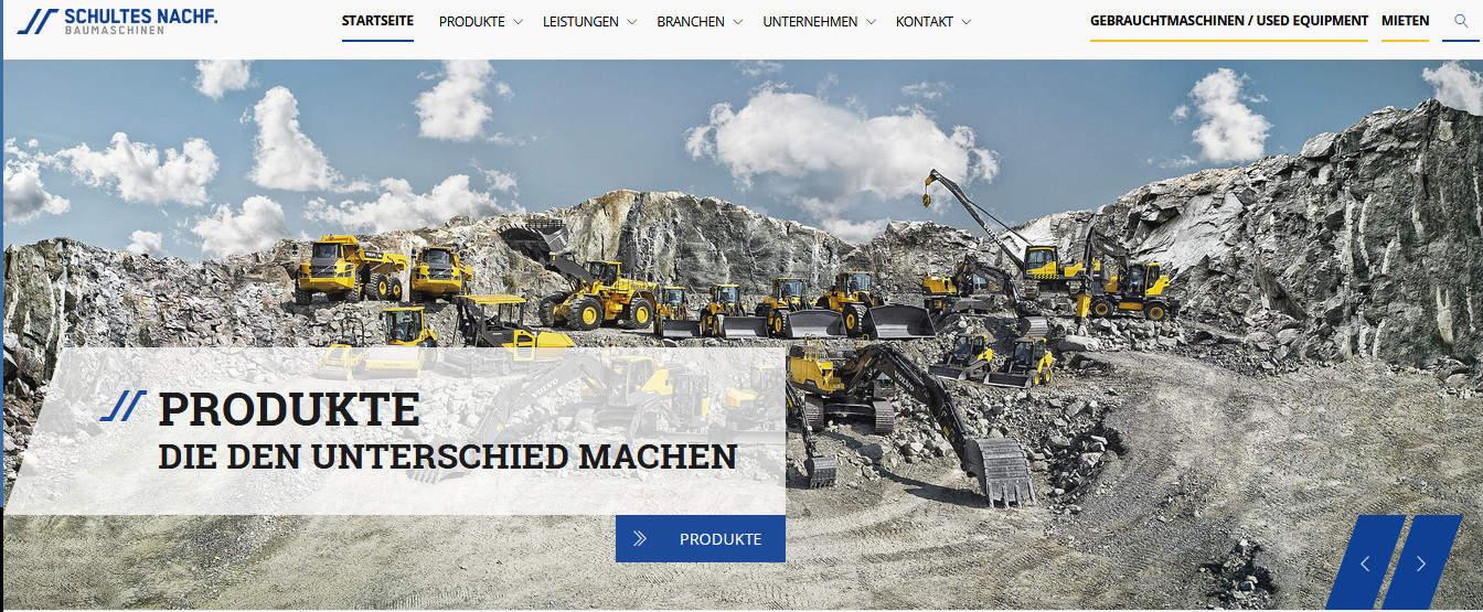 Webtexte und Imagebroschüre für Schultes Baumaschinen