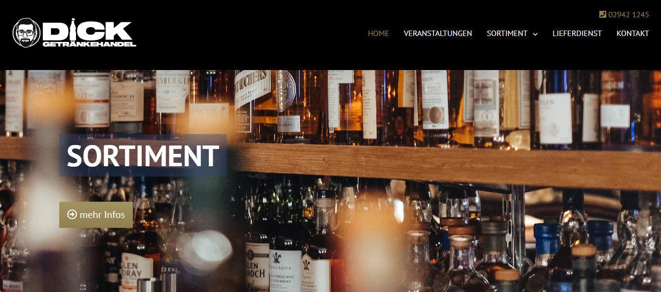 Neue Webseite für Getränkehandel Dick aus Geseke