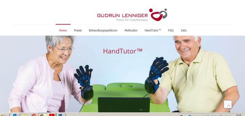 Der Handtutor - ein neues Therapiegerät in der Ergotherapiepraxis Gudrun Lenniger.